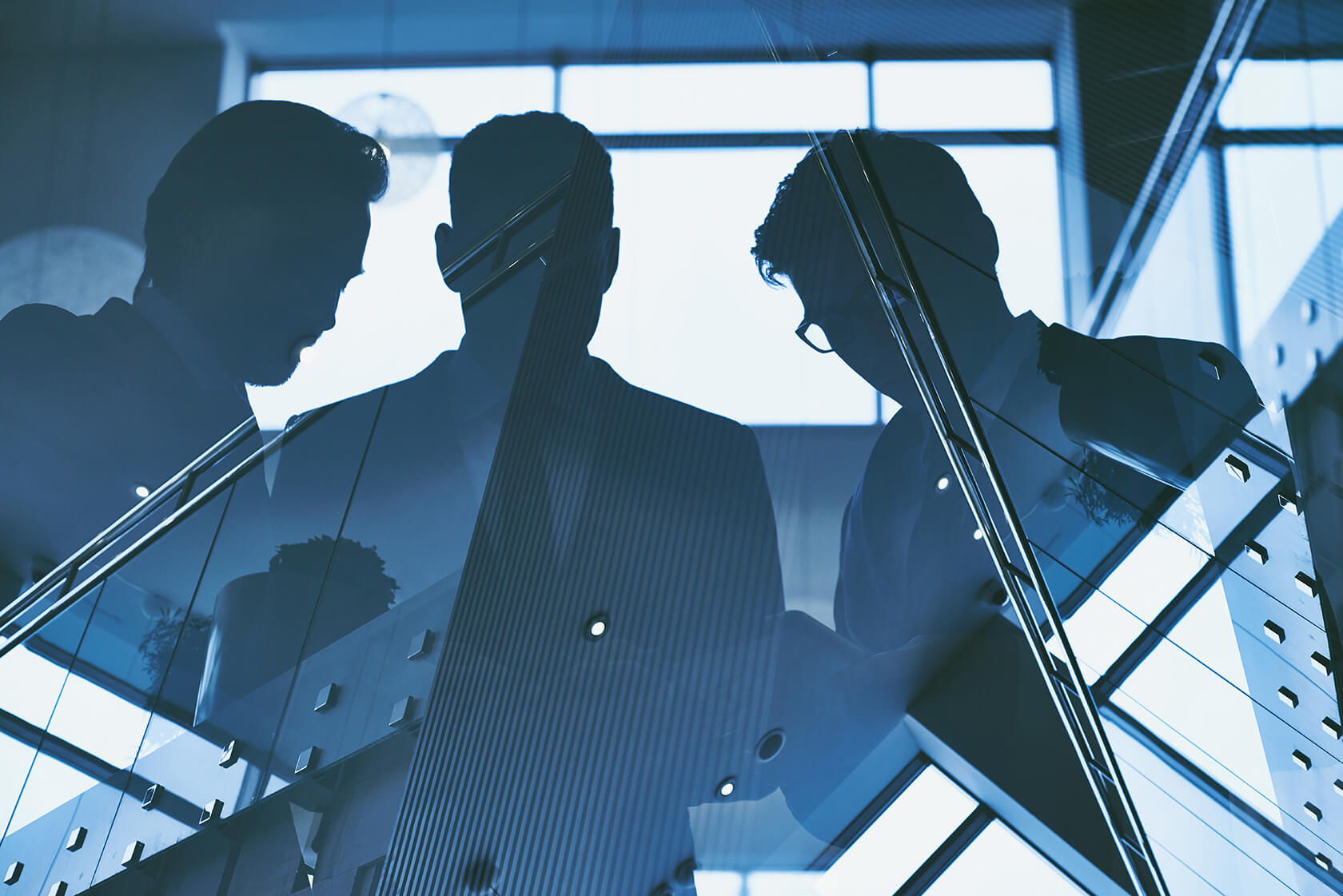 reflection of three men PXDYH771